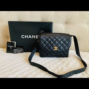 Authentic Chanel Quilted Crossbody Shoulder Bag